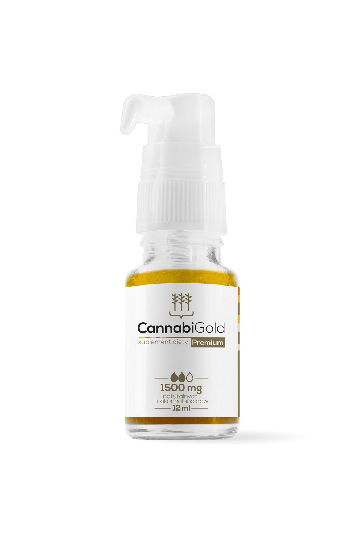Olejek CBD CannabiGold Premium 15 % – 1500mg 12 ml