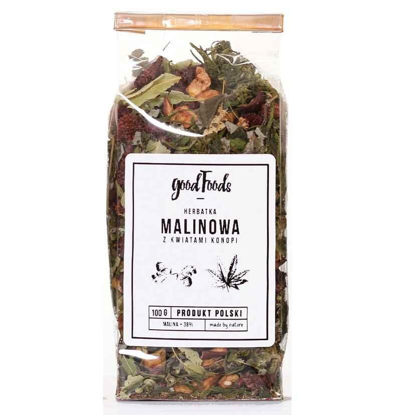 Herbata Konopna Malinowa