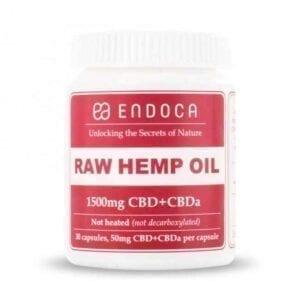 Kapsułki Endoca RAW 15% CBD+CBDA 1500MG
