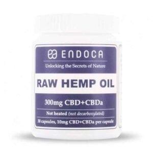 Kapsułki Endoca 3% CBD RAW 300mg