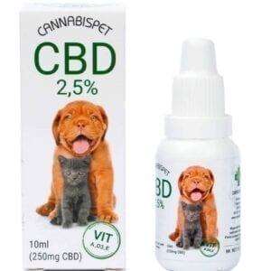 Olejek konopny CBD 2,5 % 10 ml | Cannabispet