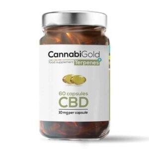Kapsułki wegańskie CannabiGold Terpenes+ 60 x10 mg CBD