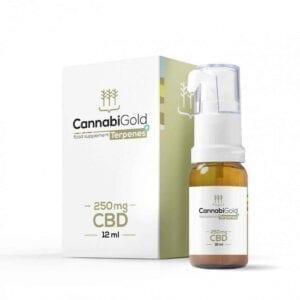 Olejek CBD CannabiGold Terpenes+ Kannabidiol i terpeny w oleju 250mg