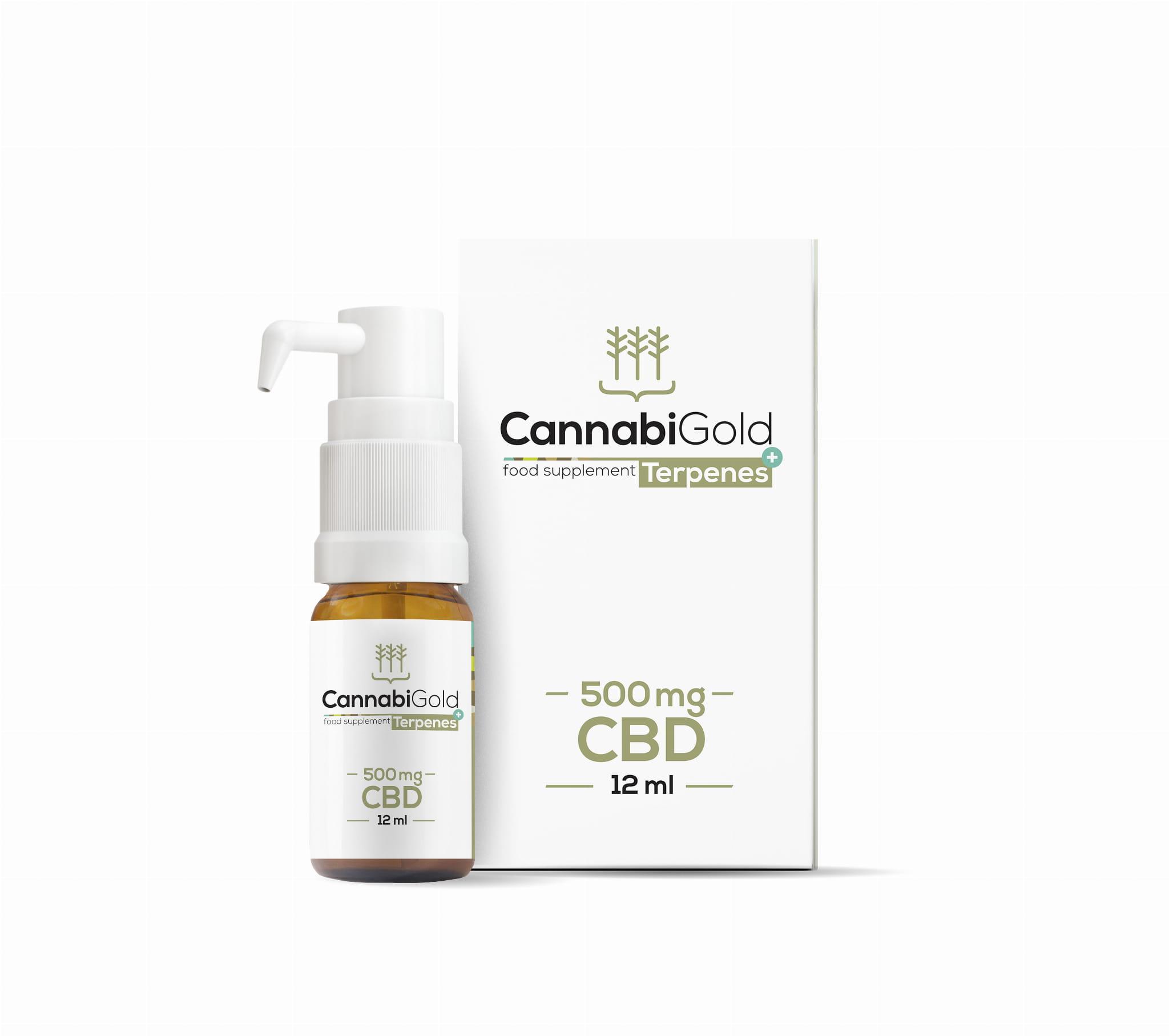 Olejek CBD CannabiGold Terpenes+ Kannabidiol i terpeny w oleju 500mg