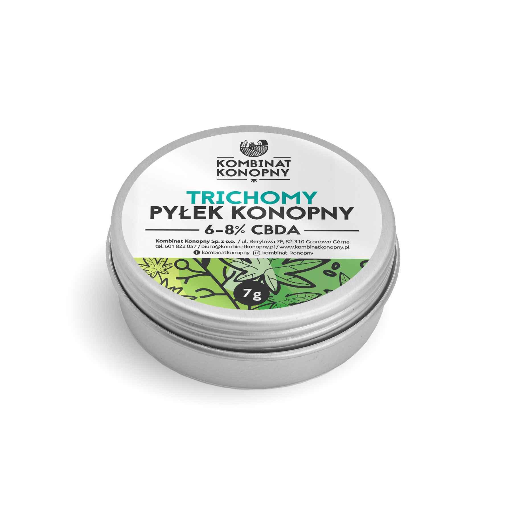 TRICHOMY. Pyłek konopny 6 – 8% CBDA. 7 gramów