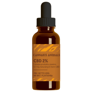 Olejek konopny CBD Cannabis animals 2% 30ml
