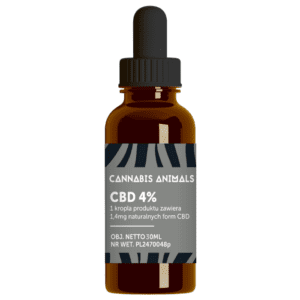 Olejek konopny CBD Cannabis animals 4% 30ml