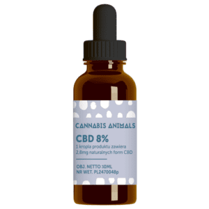 Olejek konopny CBD Cannabis animals 8% 30ml