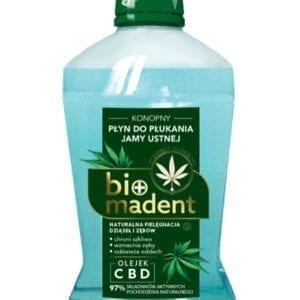 Konopny płyn do płukania jamy ustnej – Biomadent – 500 ml